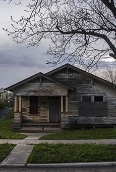 Abandoned houses  such as this one on SA's East Side are being sold at a feverish pace.