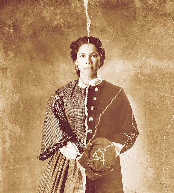 Actress Romi Dias as Loreta Velázquez/Harry T. Buford in PBS' Rebel, premiering Friday - COURTESY PHOTO
