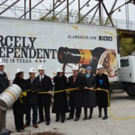 Alamo Beer Holds Chilly Groundbreaking