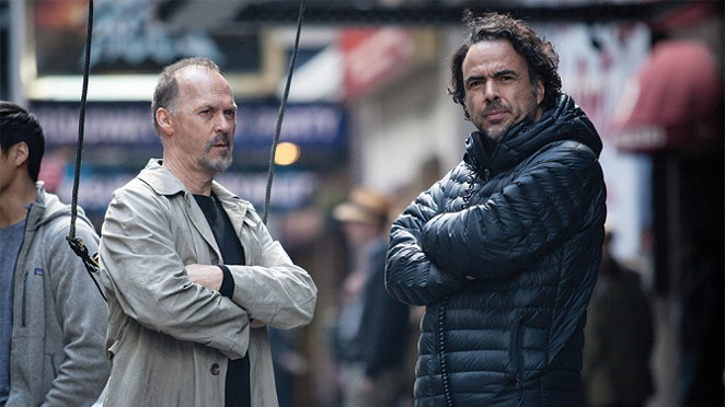 "Alejandro Iñárritu and Michael Keaton on the set of 2014's ""Birdman."" - COURTESY"