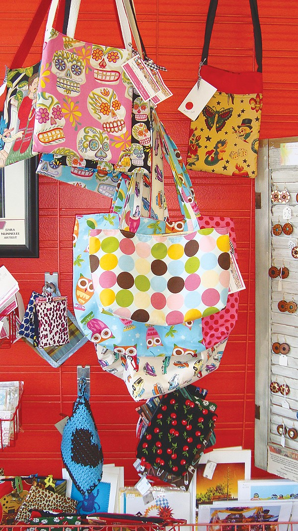 An array of handmade purses, wallets, earrings (to name just a few items) at D.I.Y. Factory. - PHOTO BYDESIREE PRIETO
