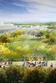 An artistic rendering of the concept for the Civic Park in downtown San Antonio.