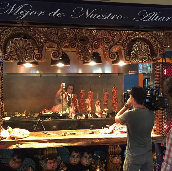 A little behind-the-scenes look at this weekend's Travel Channel shoot at El Machito - CHEFAZ/INSTAGRAM
