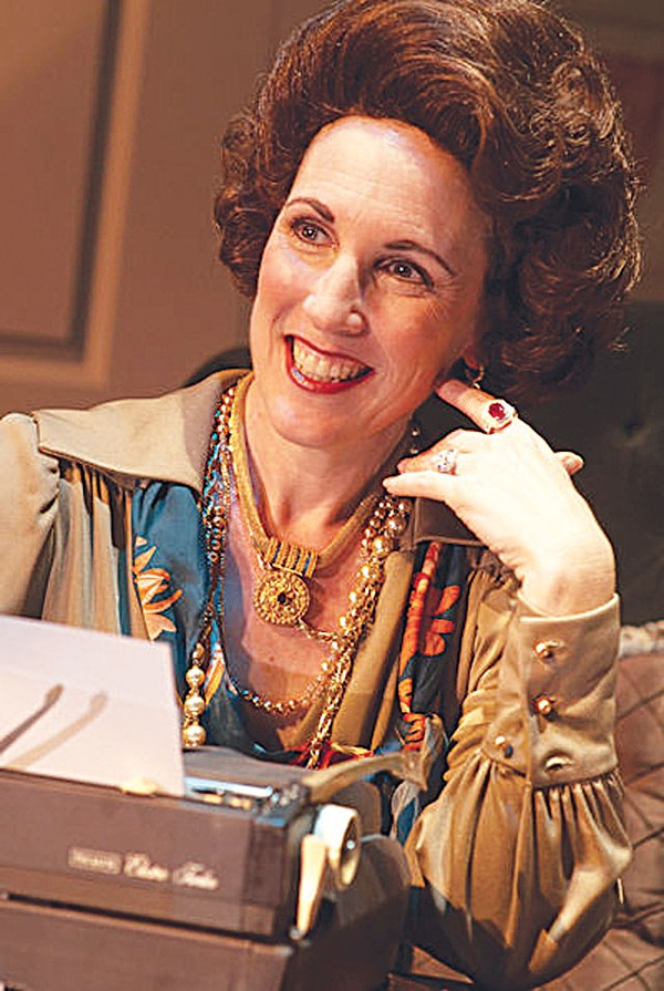 Anna Gangai as Ann Landers in The Lady with All the Answers.