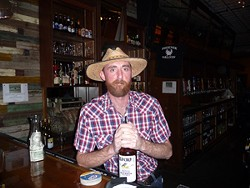 Bartender Chris Hooker at the Phoenix Saloon
