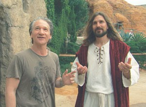 Bill Maher interviews a theme-park Jesus in Religulous.