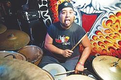 Blood of Our Enemies drummer David Castillo at White Rabbit.