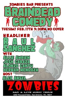 ALEX ANSEL - BRAINDEAD COMEDY ONLY AT ZOMBIES BAR