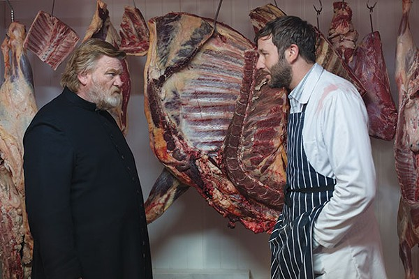 Brendan Gleeson, Chris O'Dowd and lots of beef in Calvary - COURTESY OF FOX SPOTLIGHT