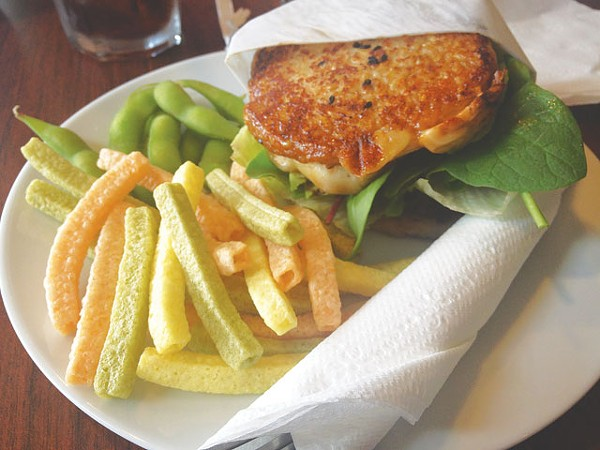 Café Green Tea serves up Japanese-influenced lunch fare in the Medical center area. The brown rice burger (with chicken or veggies) is a must-have. - LAUREN W. MADRID
