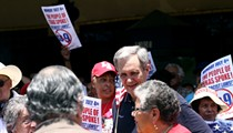 Castro, Doggett rub elbows at Westside march
