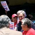 Castro, Doggett rub elbows at Westside march