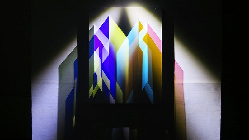 Cathy Cunningham-Little's Light sculpture Architectural Tectonic