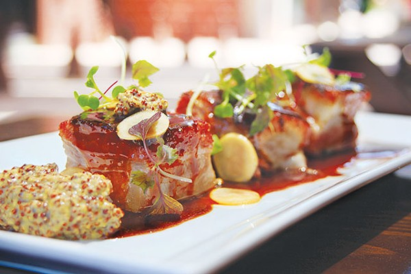 Celebrate Drink a Beer day with La Bestia-braised pork belly at Boiler House - COURTESY PHOTO