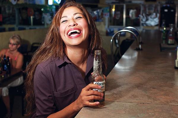 Cindy Garcia at Sanchez Ice House #1 - STEVEN GILMORE