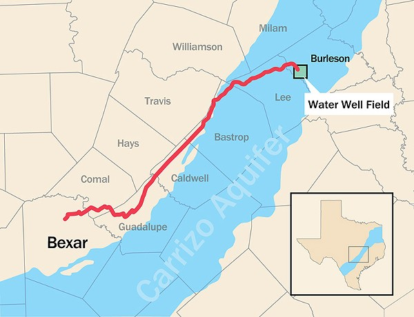 City Council approved a $3.4 billion deal to pump water in via a 142-mile pipeline - COURTESY