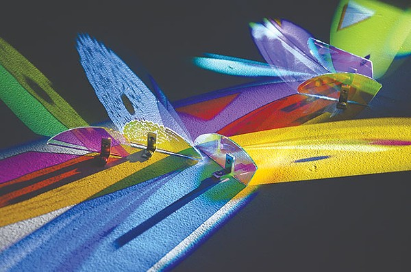 Close-up of Cathy Cunningham-Little's light-refracting sculpture - BRYAN RINDFUSS