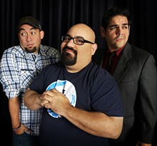 CARLOS IBARRA - Comedia A Go-Go; (left to right) Larry Garza, Jess Castro, Regan Arevalos