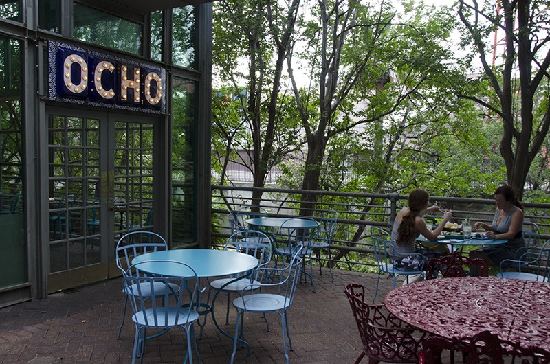 Cubano fun at Ocho, with Spot in tow. - ALLISON V. SMITH