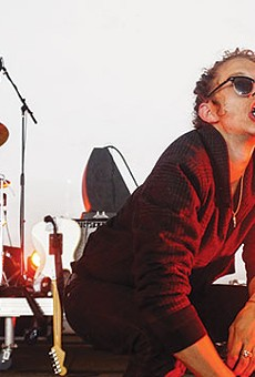 Destruction Unit's Ryan Rousseau, taking the headset mic to new aural and oral frontiers