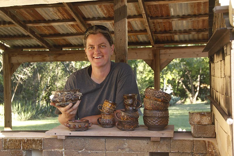 Diana Kersey with some of her ceramic pieces - COURTESY