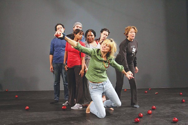 Director Viera Dubačová demonstrating a move to cast members of Stranger. - PHOTO COURTESY JUMP-START PERFORMANCE COMPANY
