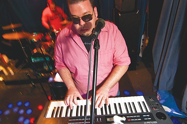 Disco Wasteland's Jeremy Rhodes on keys (and sunglasses). - PHOTO BY STEVEN GILMORE