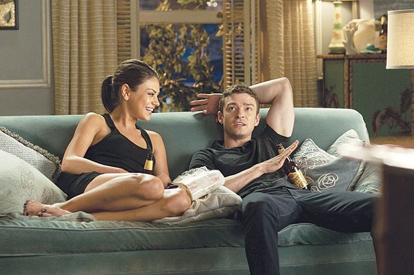 Dressed, but not for long. Kunis and Timberlake in Friends with Benefits. - COURTESY PHOTO