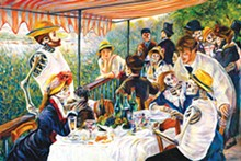 COURTESY - Duran's Día de los Muertos-inspired remix of Renoir's 'Luncheon of the Boating Party' at Bistro Vatel