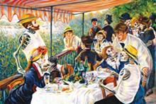 COURTESY - Duran's Día de los Muertos-inspired remix of Renoir's 'Luncheon of the Boating Party' at Bistro Vatel