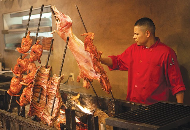 El Machito's meat-filled mesquite grill