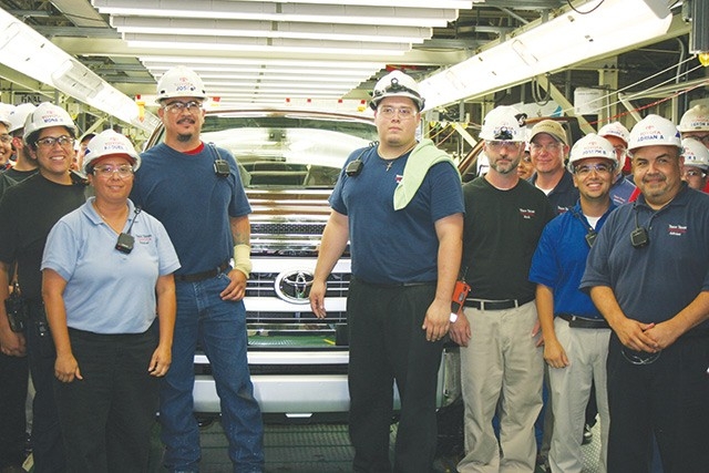Employees of the Toyota plant, a rare example of a foreign firm meeting local dreams - COURTESY PHOTO
