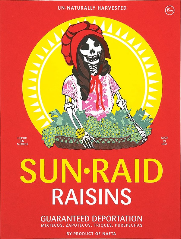 Ester Hernandez, Sun Raid, Collection of the McNay Art Museum, Gift of Harriett and Ricardo Romo. Photo Courtesy of the Museum.