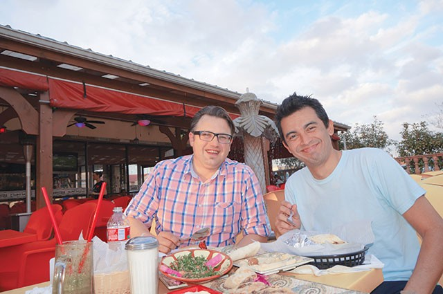 "Fabien ""Frenchie"" Jacob and fellow traveler Carlos Montoya - MARK JONES"