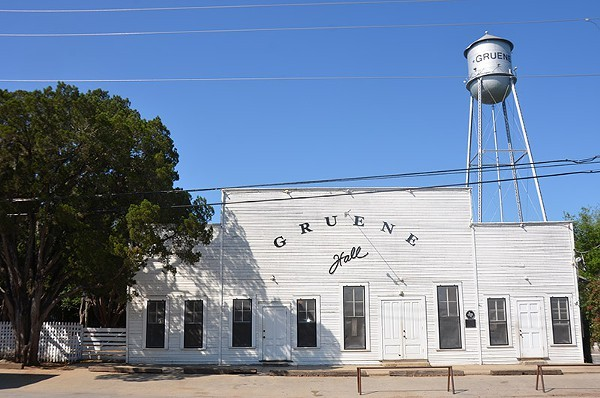 Built in 1878, Gruene Hall Celebrates its 40th anniversary as a music joint this weekend. - MATT STIEB