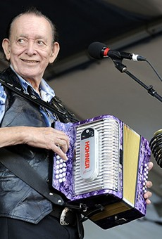 Flaco Jiménez, take the Tejano Conjunto Festival Stage On Sunday.