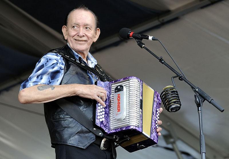 Flaco Jiménez, take the Tejano Conjunto Festival Stage On Sunday. - TIM MOSENFELDER