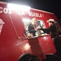 Food & Drink Devil in a red taco truck