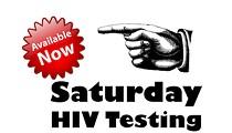 Free HIV testing Saturdays