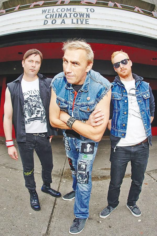 "From left: Bassist Dan Yaremko, Joe ""Shithead"" Keithley and drummer J. J. Heath - COURTESY PHOTO"