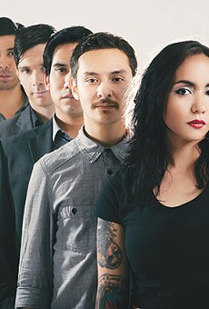 Front to back: Nina Diaz, Jorge Gonzalez, Jaime Ramirez, Justin Carney and Travis Vela