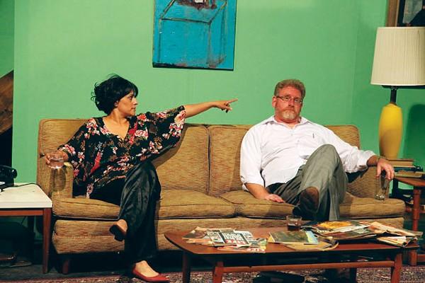 Gloria Sanchez-Molina as Martha and David Connelly as George in AtticRep's Woolf. - SIGGI RAGNAR
