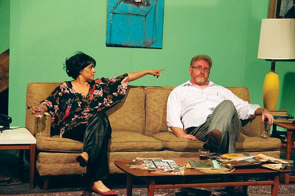 Gloria Sanchez-Molina as Martha and David Connelly as George in AtticRep's Woolf. - SIGGI RAGNAR