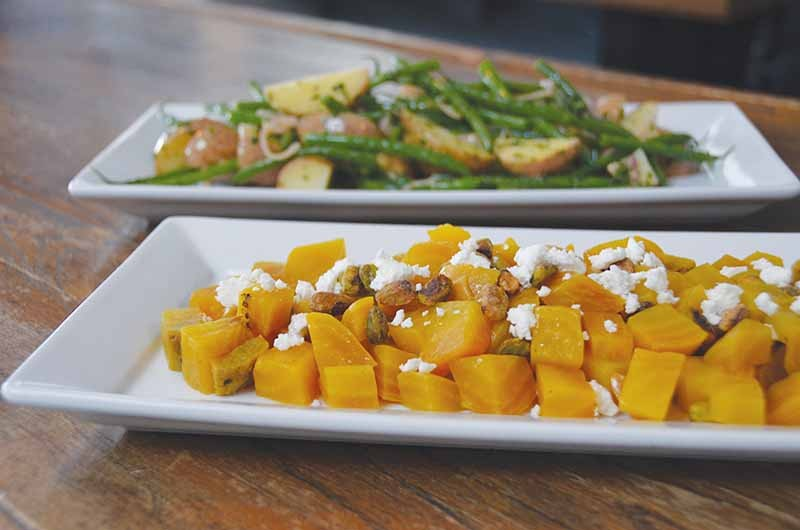Golden beets, potatoes and green beans - COURTESY