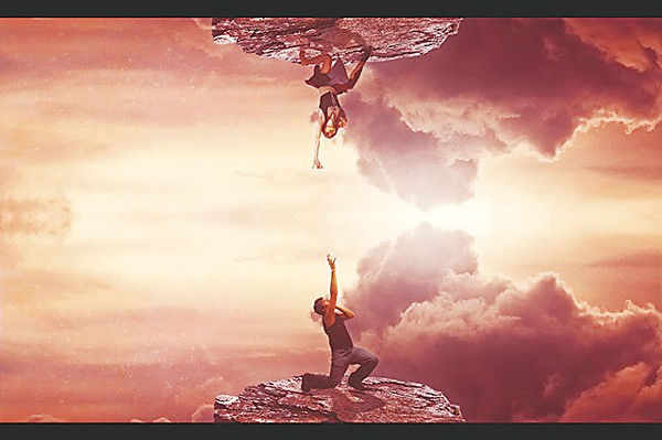 Gravity sucks: Jim Sturgess and Kirsten Dunst in Upside Down - COURTESY PHOTO
