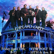 GRUPO ORO - VFW POST 76 Friday April 10, 2015
