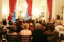 VILLA FINALE: MUSEUM & GARDENS - Guests sit for the finale of the Music for Your Eyes tour.