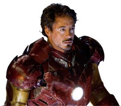 Heavy metal: Robert Downey Jr.'s Iron Man is a playboy inventor with a sudden change of heart.