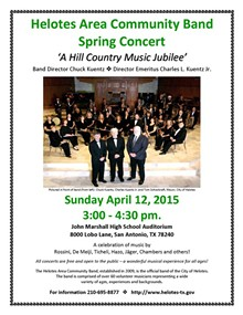 Helotes Area Community Band Spring Concert April 12, 2015