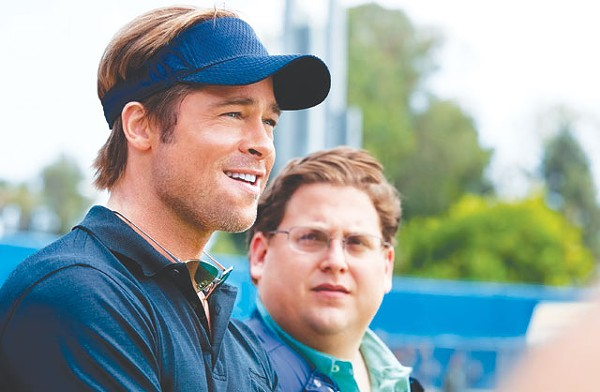 Homerun — Brad Pitt and Jonah Hill in Moneyball. - COURTESY PHOTO